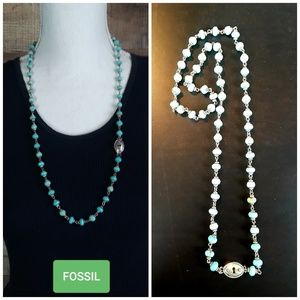 Fossil Keyhole Necklace